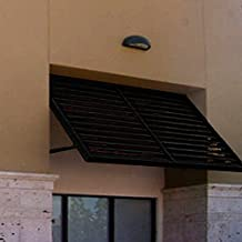 Beauty-Mark OH23-At-6K Awntech's 6-Feet Ohio Metal Shutter Awning 80-Inch W X 24-Inch H X 36-Inch D Black
