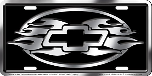 Chroma Graphics 1959 Aluminum Chevrolet Brushed Stamped Tag Chevy License Plate