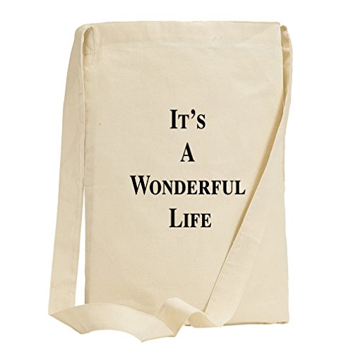 It'S A Wonderful Life Canvas Sling Tote Bag