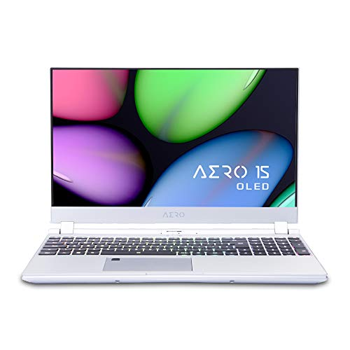 """[2020] Gigabyte AERO 15S OLED KB Thin+Light High Performance Laptop, 15.6"""" 4K UHD OLED Display w/ 100% DCI-P3, GeForce RTX 2060, i7-10875H, 16GB DDR4, 512GB NVMe SSD, Up to 8.5-hrs Battery Life"""