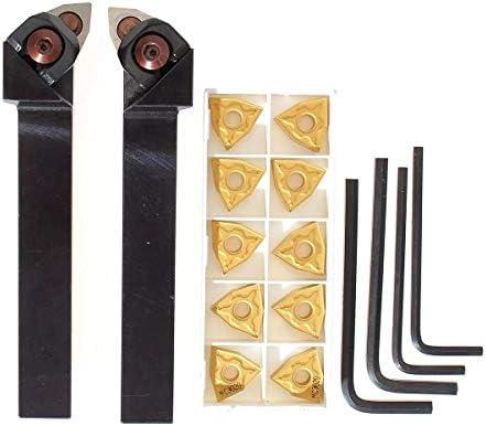 Qualitäts-CNC-Drehmaschine Werkzeug-Zubehör WWLNR / L1616H / K08 16x100mm Drehmaschine Drehwerkzeughalter mit 10 Stück WNMG080404 Einsätze