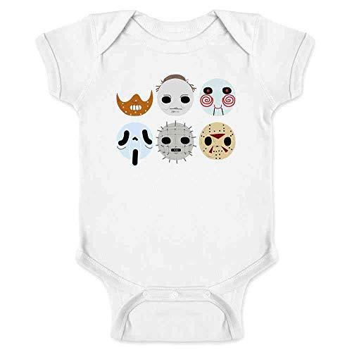 Horror Masks Halloween Costume Monster White 6M Infant Bodysuit