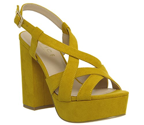 Mustard Handshake Strap Cross Office Platforms R4XYZRn