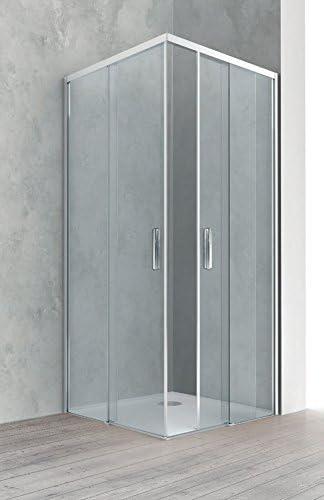 Ángulo con puertas correderas ponsi sin perfil inferior: Amazon.es ...