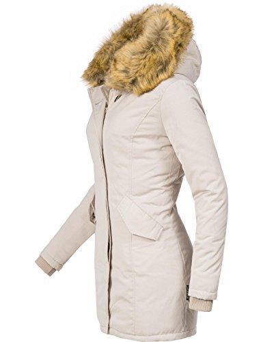 XXL Blanc Cr Marikoo XS XS 15 Karmaa Veste pour Couleurs 5XL Dame d'hiver vxHBvTg