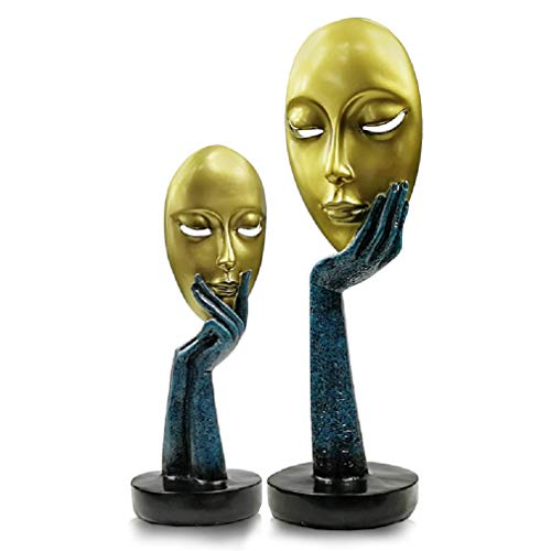 "Creative and Abstract Woman Face Statues, Faces & Hands Statue Sculpture Modern Woman Art Decor,Figure Figurines Desktop Decorations (11.8"" inches Tall)"