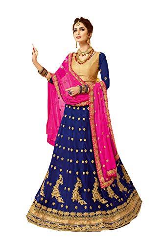 Indian Women Designer Partywear Ethnic Traditional Blue Lehenga - Indian Lehenga Bridal