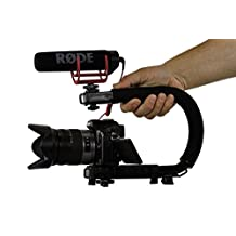 Cam Caddie Scorpion Jr. Video Camera Stabilizing Handle with Included Smartphone and GoPro Compatible Mounts - Black (0CC-0100-JR-BLK)
