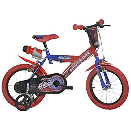 Image of Balance Bikes Dino Bikes 163G-SAGB 16-Inch Spiderman Bicycle