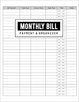 Bill Organizer Template Excel from images-na.ssl-images-amazon.com