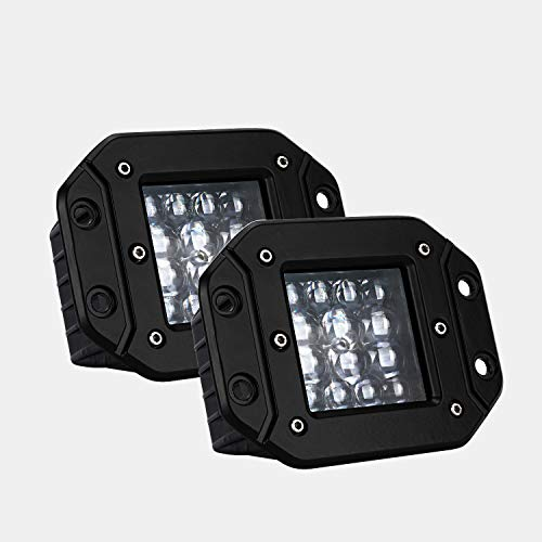 LED Pods, ACT Sport Flush Mount Quad Row LED Light Bar 5 inch LED Spot Beam OSRAM Off Road LED Lights LED Work Light Super Bright LED Driving Lights for Boat Truck Motorcycle etc, 2 Years Warranty