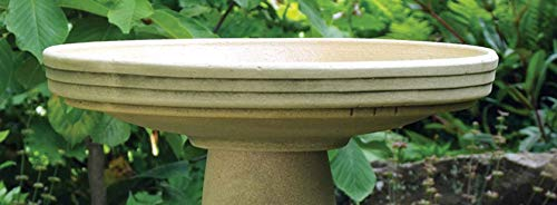 In the Garden and More Replacement Birdbath Bowl Top for Cardinal Handcrafted Clay - Birdbath Cardinal