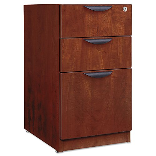 Alera VA532822MC Valencia Series 16 by 22 by 28-Inch 2 Box and 1 File Drawer Full Pedestal, Medium Cherry Series Medium Cherry