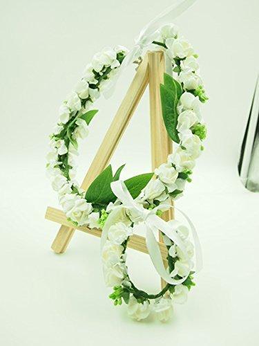 동경의 웨딩!! 플라워 헤드 꽃머리 장식 드레스 팔찌 세트 결혼식 (화이트)