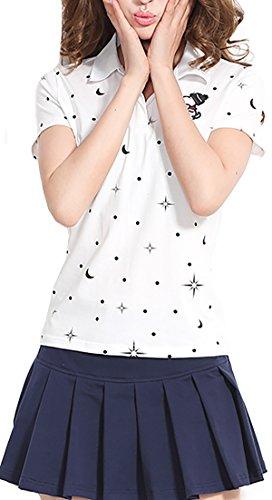 KEIMI(ケイミ)レディース ゴルフウェア 上下 セット ポロシャツ スカート カジュアル 可愛い スポーツウェア おしゃれ ゴルフ ウェア 全4色
