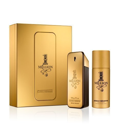 150 Ml Gift Set (Paco Rabanne 1 MILLION Gift Set 100ml Eau De Toilette EDT Spray & 150ml Deodorant Spray by Paco Rabanne)
