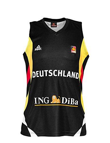 PEAK Sport Europe Damen Deutschland Basketball Trikot 2015, Schwarz, S, G-DBB141-W-A