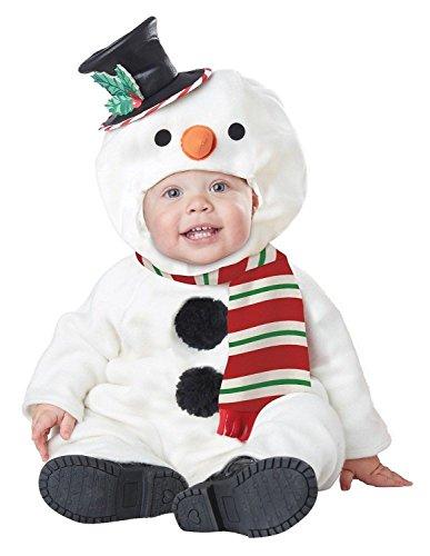 California Costumes Baby-Boys Infant Lil' Snowman, White, Medium(12-18M)