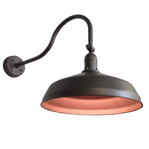 Adjustable Metal Gooseneck Barn Light Adlxsv925 Bronze Amazon Com