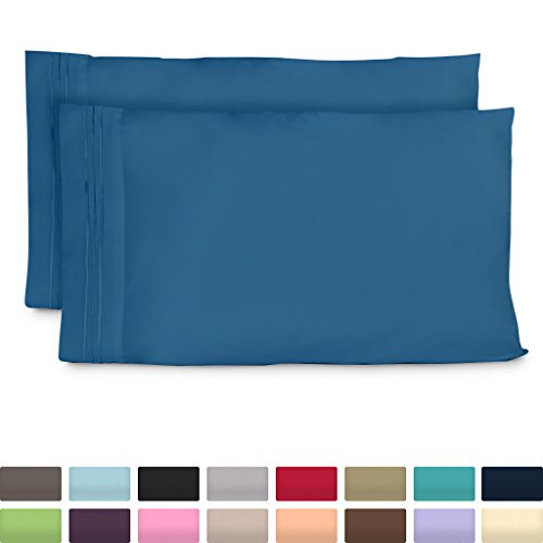 King Size Pillow Cases - Luxury Peacock Blue Pillowcases - Super Soft Hotel Luxury Pillow Case - Cool & Wrinkle Free - Hypoallergenic - Periwinkle - Set of 2 (Periwinkle Home Decor Fabric)