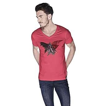 Creo Batman Super Hero T-Shirt For Men - L, Pink
