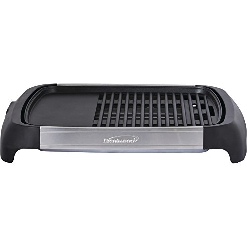 Brentwood Select TS-641 1200 Watt Electric Indoor Grill & Griddle, Stainless Steel by Brentwood