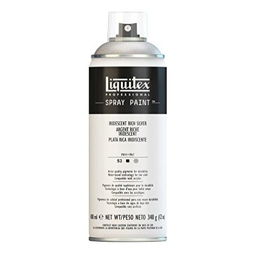 (Liquitex 4450239 Professional Spray Paint 12-oz, Iridescent Rich Silver)