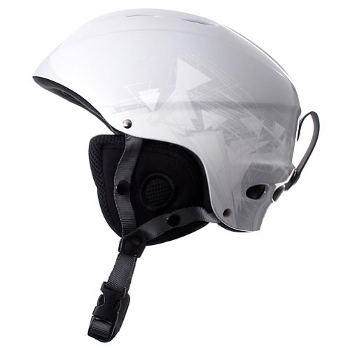 Giro 540 Helmet – Size:53.5-55.5cm-White/Triangles, Outdoor Stuffs