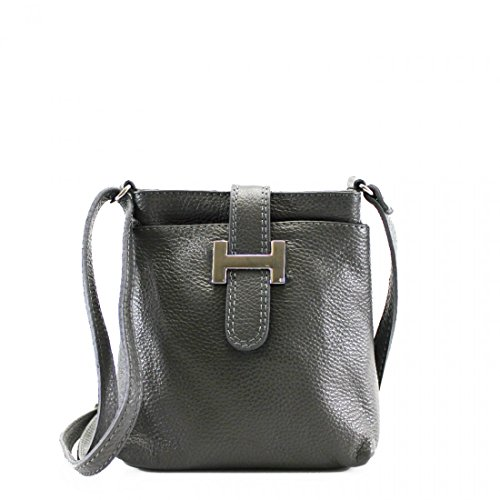 Small Holiday Women Women's Bags Cross For D Leather Handbag Real green Leahward grey Messenger Body PxAvRPqw