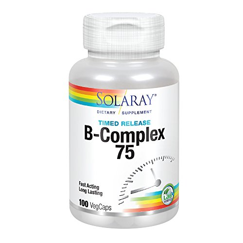 Solaray B Complex Two Stage Time Released Supplement, 75mg, 100 Count