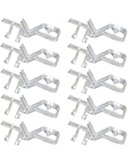 Hidden Channel Valance Clips1-7/8inch 10Pack Clear Color for Faux and Real Wood Window Blinds(1-7/8inch, Clear)