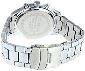 CURREN 8056 Round Dial Steel Band Men's Wrist Analog Watch with Calendar (Black) M.