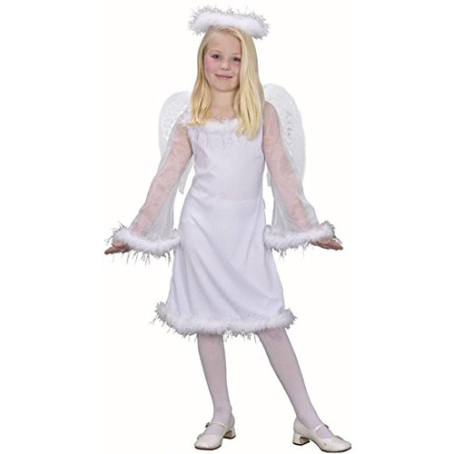 Costumes Angel Kids Halloween (Kid's White Angel Costume (Size: Medium 7-10) by Fun)