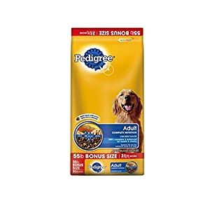 Pedigree Adult Roasted Chicken, Rice & Vegetable Flavor Dry Dog Food 55 Pounds 61