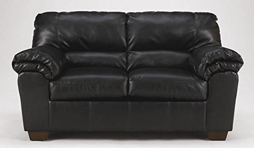 Flash Furniture Signature Design by Ashley Commando Loveseat in Black Leather