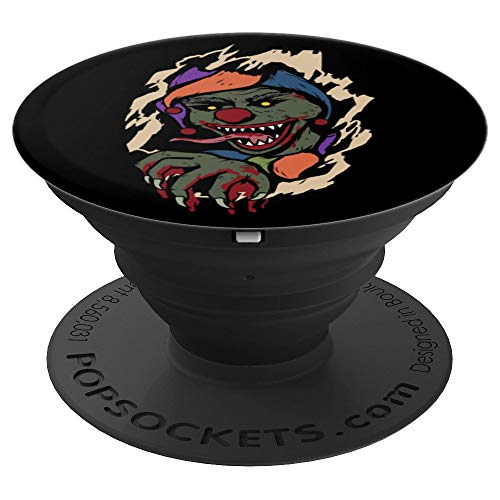Scary Clown Breaking In Halloween 2019 Horror Funny Gift PopSockets Grip and Stand for Phones and Tablets]()