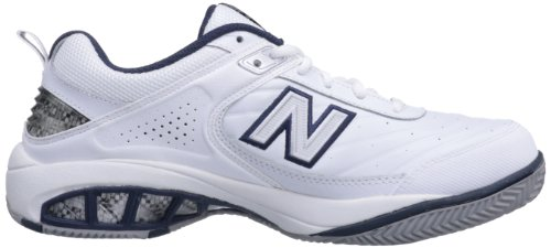 New Balance Men's MC806 Tennis Shoe - white with Navy