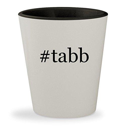 #tabb - Hashtag White Outer & Black Inner Ceramic 1.5oz Shot Glass Tabb Mark