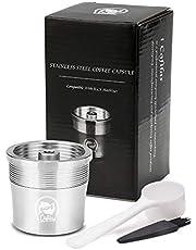 i Cafilas Illy Hervulbare koffiecapsule van roestvrij staal om bij te vullen, herbruikbare navulcapsule, compatibel met Illy, koffiecapsule + maatlepel + kwast
