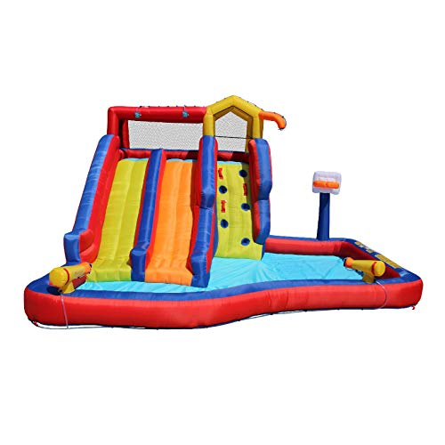 BANZAI-Twin-Falls-Giant-Colorful-Inflatable-Water-Park-Bounce-House