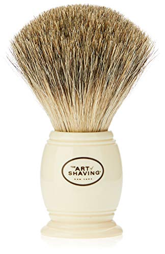 The Art of Shaving Men's Pure Badger Shaving Brush, Ivory