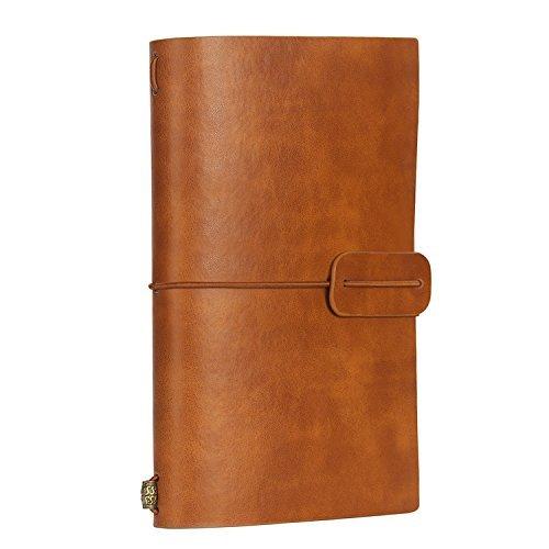 Rellenable diario de viaje Cuaderno pequeño viajeros 7x 5Vintage retro de agenda de piel PU para tomar notas dibujo...