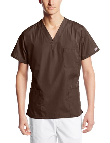 Unisex Sizing Chart - Cherokee Originals Unisex V-Neck Scrubs Shirt, Chocolate, Small