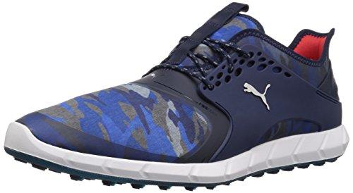 (Puma Golf Men's Ignite Pwrsport Camo Golf Shoe, Peacoat/Camo, 9 Medium)