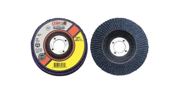 Flap Discs 13,300 RPM,T29 36 Pack 4 1//2,40 Grit,7//8 Arbor Z3-100/% Zirconia Regular
