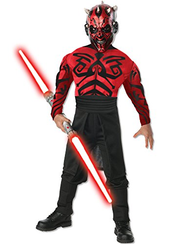 Darth Maul Halloween Costumes (Deluxe Muscle Chest Darth Maul Child Costume - Small)