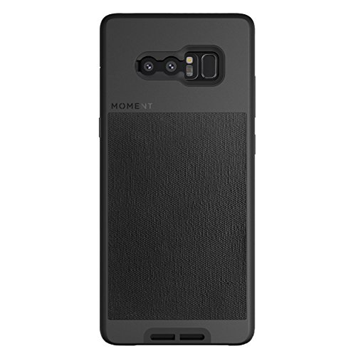 Galaxy Note 8 Case || Moment Photo Case in Black Canvas - Thin, Protective, Wrist Strap Friendly case for Camera Lovers.