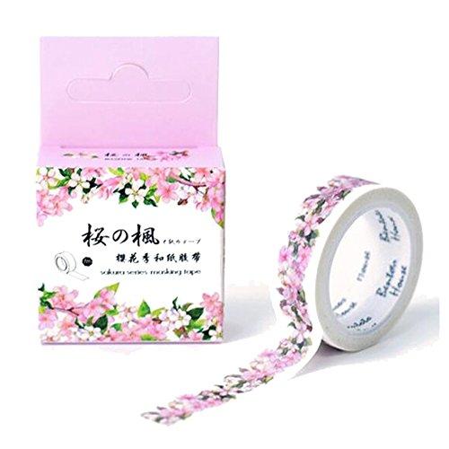 2 Pack of Sakura Cherry Blossom Washi Tape 15mm (MT-320) - 320 Cherry