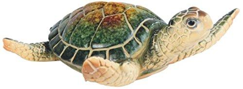 Flower Sea Turtle - StealStreet SS-G-54336 Small Green Shelled Sea Turtle Figurine, 3.75