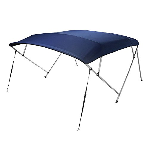"Bimini Top Boat Cover Square Tube 4 Bow 54""h 91-96w 12 ft. Navy Blue by 4 Seasons"